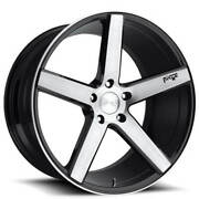 Qty4 20 Niche M124 Milan Brushed Black Wheels And Tires