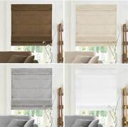 Roman Shades Cordless Blinds Inside Outside Mount Privacy Light Filtering Soft