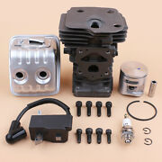 44mm Cylinder Piston Muffler Ignition Coil Kit Fit Jonsered Cs2250 2245 Chainsaw
