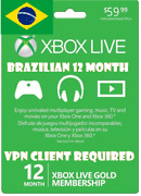 12 Month Xbox Live Gold Membership Bra Vpn Required Read Desc Email Delivery