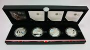 Uns Proof Set, 2012 London Olympics 5pounds 92.5 Silver 4 Color Coins With Coa