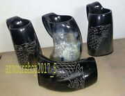 Game Of Thrones Wolf Carved Viking Drinking Horn Mug Tankard For Beer Wine Ale