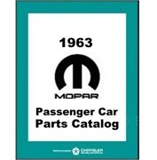 Mopar Factory Parts Manual For 1963 Plymouth - Dodge - Chrysler - Imperial