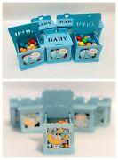 Set Of Baby Shower Wooden Boxes Blue Boy Party Ideas Gift Favor Bags Decoration