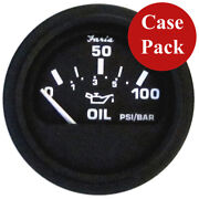 Faria Heavy-duty 2 Oil Pressure Gauge 80 Psi Black Bulk Case Of 24 Gp0801b