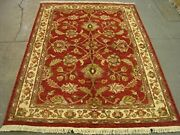 Chobi Zeigler Mahal Rare Vege Dyed Area Rugs Hand Knotted Carpet 7.4 X 5.6and039