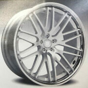 4new 20 Staggered Wheels And Tires Lexani R-twenty Silver Center W Chrome