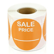 Sale Price Labels Retail Garage Clearance Promotion Stickers 2 Round, 5pk