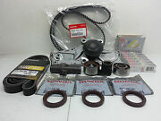 Genuine Timing Belt Andwater Pump W/complete Kit For Honda/acura V6 +ngk Plugs 13