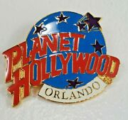 Planet Hollywood Orlando Fl Classic Globe Red White And Light Blue Lapel Pin
