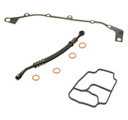 New Bmw E46 330i Vanos Oil Supply Line Hose With Seal Washers + Gaskets