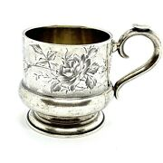 Antique Imperial Russian Silver 84 Tea Cup Holder.