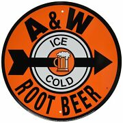 Retro Home A And W Root Beer Reproduction Ad Tin Sign Vintage Design Decor Kitch