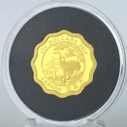 2014 150 Blessings Of Longevity 99.999 Pure Gold Scallop Edge Proof Coin