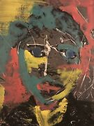 Grimm Tv Abstract Portrait Painting Oil On Board Nbc Production Artists