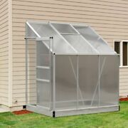 Walk In Greenhouse Lean To Weatherproof Garden Shed Outdoor Cold Frame Storage