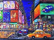 Arthur Robins Times Square With Scaffold Nyc Art Cityscape Cars See Video