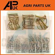 172pc Mixed Pto Lock Pin And R Clip Assortment Lynch Linch Pins Tractor Linkage
