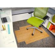 Office Desk Chair Mat Bamboo Natural Wood Low Pile Carpet Floor Protector New