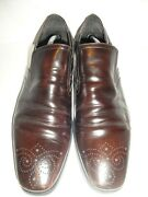 Mkp By Mike Konos Dark Brown Leather Loafers Men's Shoe Size 11m