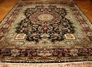 Black Rug 9and039 X 12and039 French Solid Design Burgundy Wine Aubusson Handmade Rug