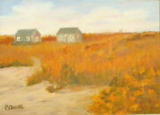 Vintage Oil Painting Third Beach Newport Rhode Island By Patricia Heath Caswell