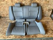 Bmw 2007-2013 E93 E92 Rear Fold Down Back And Bench Seats Gray Leather Oem 115k