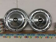 """57 1957 Chevrolet Rare Vintage 57 Chevy 14"""" Hubcaps 2 Wheel Covers Oem"""