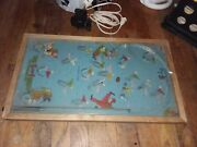 Antique Poosh-m-up Big 5 Canadian Football Pin Ball Game 13x23