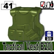 Tank Green B20 Tactical Vest For Lego Army Military Brick Minifigures