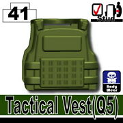 Tank Green Q5 Tactical Vest For Lego Army Military Brick Minifigures