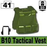 Tank Green B10 Tactical Vest For Lego Army Military Brick Minifigures