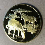 Grevy's Zebras, East African Wild Life Society 2 Oz Silver Medal