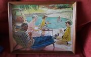 Early 1960s Gouache American Artwork Possibly Commercial Piece - Framed