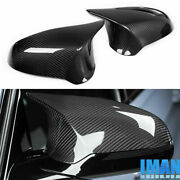 Replacement Real Carbon Fiber Side Mirror Cover For Bmw F20 F22 F30 F32 2012-17