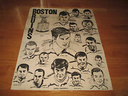 Rare Bobby Orr Boston Bruins 1970 Stanley Cup Champions Drawing Poster Esposito