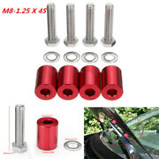 1and039and039 8mm Billet Hood Vent Spacer Riser Kits For Car Engine Turbo Engine Swap