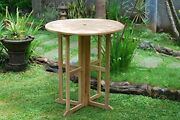 Windsor's Grade A Teak 47 Round Dropleaf Counter Table 5 Lower Then Bar