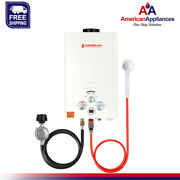 Camplux Bw211 8l 2.11 Gpm Propane Gas Outdoor Portable Tankless Water Heater