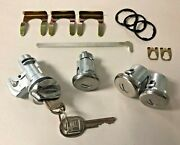 New 1970-1977 Monte Carlo Door Trunk And Glove Box Lock Set With Gm Keys