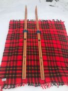 Vintage 1970and039s Lt100 Wooden Hickory Skis Made In Norway
