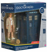Classic 5th Doctor Who And Tardis Action Figure New Dr Who Toy