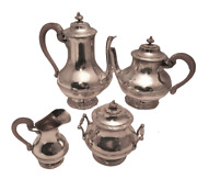 French Turn-of-the-century 4-piece Silver Tea And Coffee Service / Set