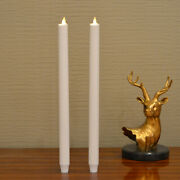 Luminara Flameless Window Taper Candle Moving Mick With Timer 15and039and039 Dinner Candle