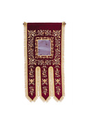 53 Traditional Byzantine Embroidered Velvet Greek Processional Church Banner
