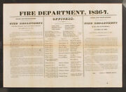 Antique 1836 Providence Fire Department Rules And Regulations Officers Presidents