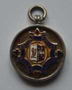Vintage Aston And Lozells Whist League Sterling Silver Medal Badge 1929-30 Runner