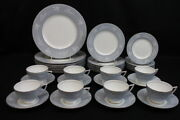 38 Pc. Grey Cameo By Minton China Set For 8 Plates Cups And Saucers S-664 47