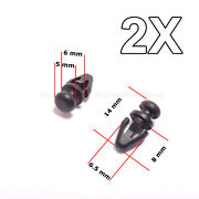 2x Door Seal Clips For Sill Lower Rubber Weatherstrip Gasket For Ford