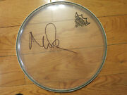 Nick Mason Signed Drumhead Acoa + Proof Pink Floyd Autographed Remo Drum Head